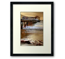Light on the Pylons, Queenscliff Framed Print