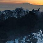 sunrise over the Wrekin by mike parker