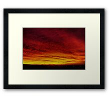 Fire In The Sky - Sydney - Australia Framed Print