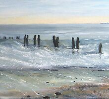 Sandsend Groynes by Sue Nichol