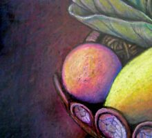 Fruit Bowl Still Life Detail by iartistbynature