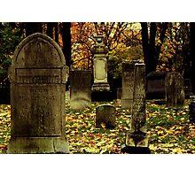 Cemetary in Michigan Photographic Print