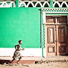 Girl at Green Mosque (IlhaMoç) by Tim Cowley