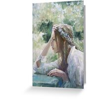 Wind from the east...(Oil version) Greeting Card