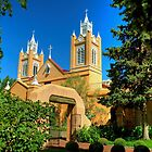 San Felipe de Neri Church New Mexico by Diana Graves Photography