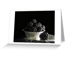 Still life with blackberries Greeting Card