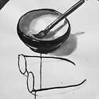 the zen of my glasses and brush by Loui  Jover