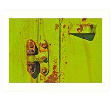 Lime Hinge Art Print