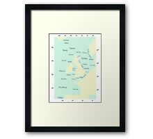 Shipping Forecast- Seaside colours Framed Print