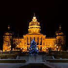 Iowa Capitol Building Christmas Decoration by suwandic
