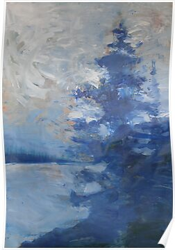 Blue Tree Painting the Sky by John Fish