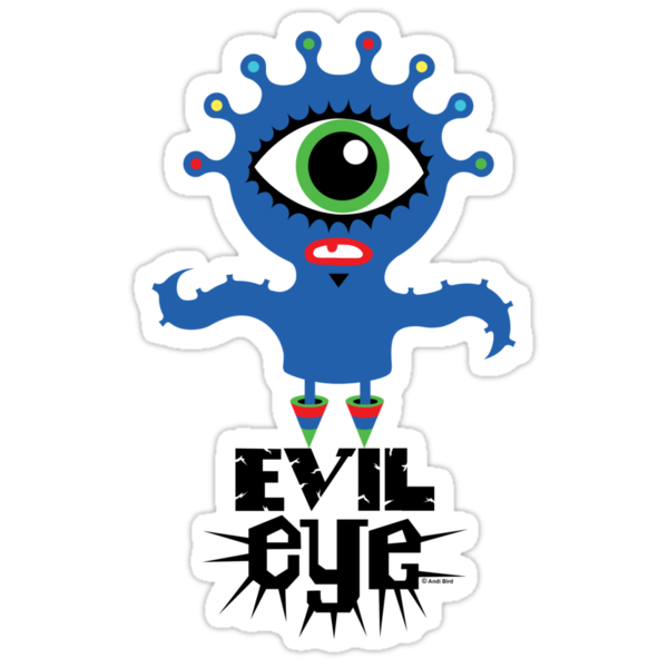 Evil Eye - on lights  by Andi Bird