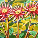 Waterlillies 2 by marlene veronique holdsworth