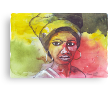 A Black Woman - nothing else Canvas Print