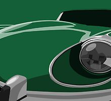 Jaguar E-Type by ArtPrints