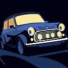 Classic Mini Cooper in Blue by ArtPrints