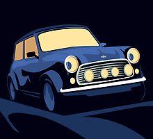 Classic Mini Cooper in Blue by Michael Tompsett