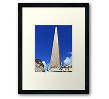 obelisk Framed Print