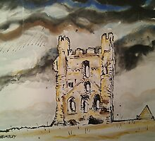 'Helmsley Castle, East Tower' by Martin Williamson (©cobbybrook)