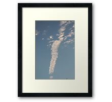 Exclamation in the Sky Framed Print