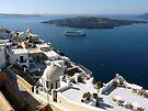 Caldera at Santorini Greece by Lucinda Walter