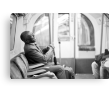 Laughter on the Tube Metal Print