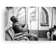 Laughter on the Tube Canvas Print