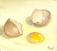 Cracked egg study by tanyabond