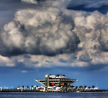 Clouds over St Petersburg Pier by Edvin  Milkunic