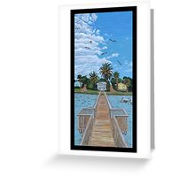 """Our Fishin' Spot in Rockport, Texas."" Greeting Card"