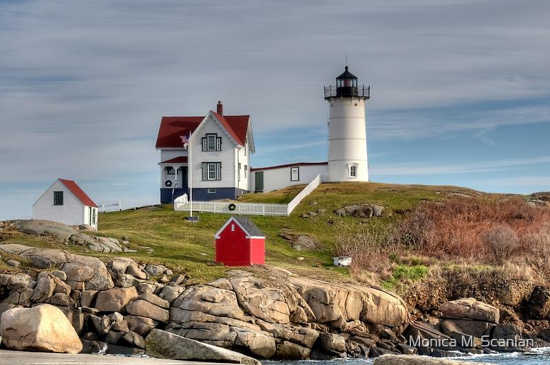Cape Neddick Lighthouse by Monica M. Scanlan