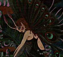 Dark Faerie in the Night by JacquelynsArt