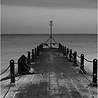 Monochrome Seascape - Hove by Steve Churchill