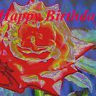 Peachy orange birthday rose by ♥⊱ B. Randi Bailey