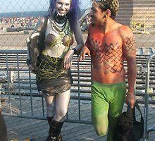 Goth Mermaid and Merman by Bernadette Claffey