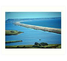 Chesil Beach-A Birds Eye View! Art Print