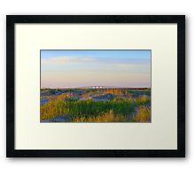 Oregon Inlet Bridge Framed Print