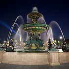 Fountain at Place de la Concorde, Paris by Alexander Davydov