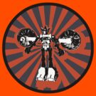 Microbot - Orange by Phantom Spaceship Design