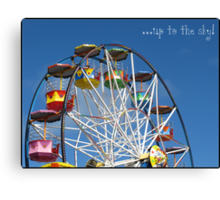 Up to the sky! -Big Wheel, Scarborough. Canvas Print