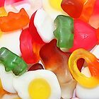 Brightly coloured Jelly Sweets by Claire Gibbs