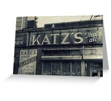 Famous Katz's Deli Greeting Card
