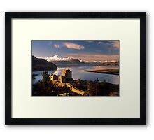 Eilean Donan Castle and the Isle of Skye, Winter. Highland Scotland. Framed Print