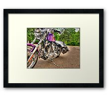 Purple Harley Framed Print