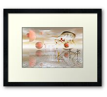 Reflections on reality Framed Print