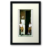 The Classroom Door Framed Print