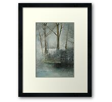 The Old Water Wheel Framed Print