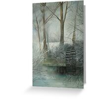The Old Water Wheel Greeting Card