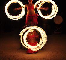 Fire Dance - Rarotonga by darylbowen