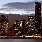 Manhattan Night Skyline by Dave Bledsoe